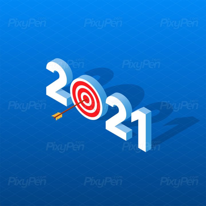 Happy New Year 2021 Greetings Card Wallpaper Background Pixypen